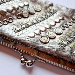 Jendi Bag Silver Shimmer Shoulder Bag Clutch